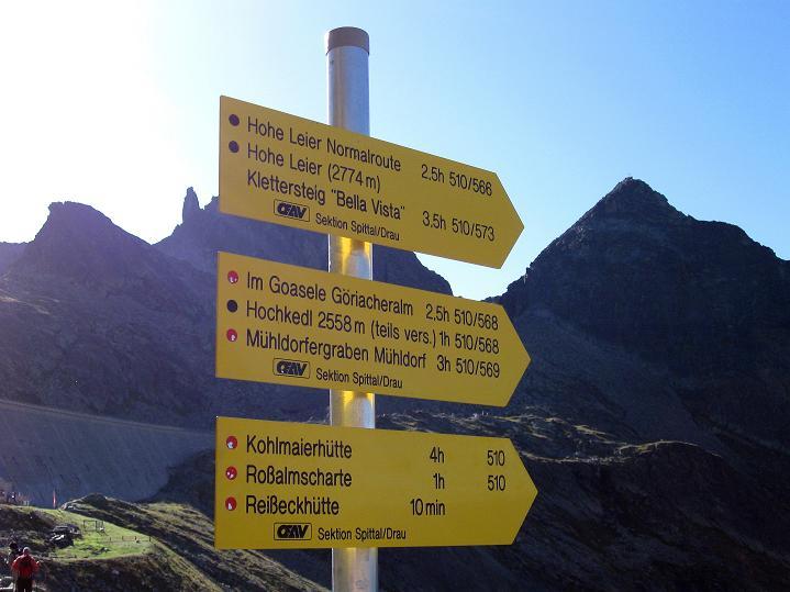 Foto: Andreas Koller / Klettersteig Tour / Bella Vista Klettersteig auf die Hohe Leier (2774 m) / 06.09.2009 23:40:23