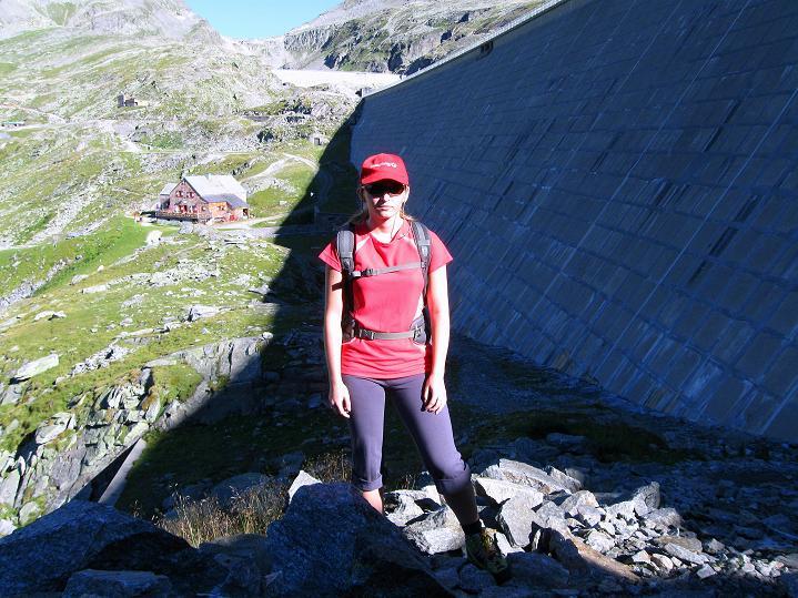 Foto: Andreas Koller / Klettersteig Tour / Bella Vista Klettersteig auf die Hohe Leier (2774 m) / Die Staumauer des Großen Mühldorfer Sees / 06.09.2009 23:39:28