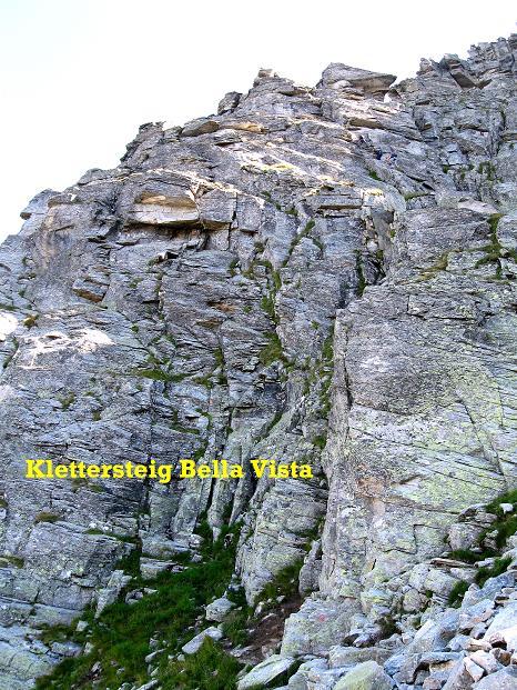 Foto: Andreas Koller / Klettersteig Tour / Bella Vista Klettersteig auf die Hohe Leier (2774 m) / Einstiegswand / 06.09.2009 23:36:46