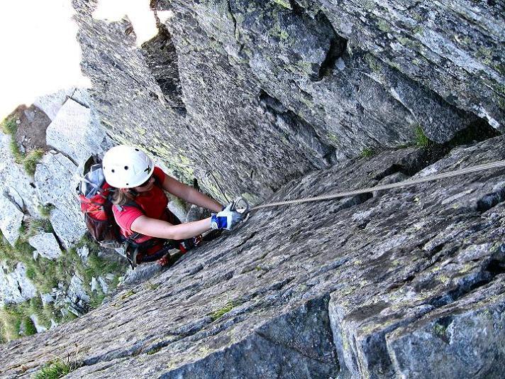 Foto: Andreas Koller / Klettersteig Tour / Bella Vista Klettersteig auf die Hohe Leier (2774 m) / Verschneidung / 06.09.2009 23:31:11
