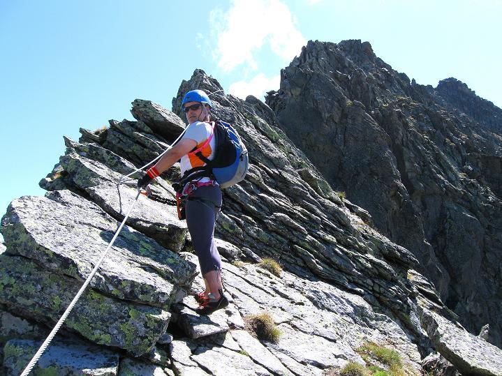 Foto: Andreas Koller / Klettersteig Tour / Bella Vista Klettersteig auf die Hohe Leier (2774 m) / Am Grat / 06.09.2009 23:29:42