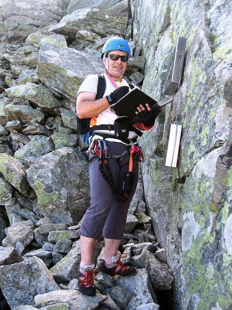 Foto: Andreas Koller / Klettersteig Tour / Bella Vista Klettersteig auf die Hohe Leier (2774 m) / Beim Steigbuch / 06.09.2009 23:27:48