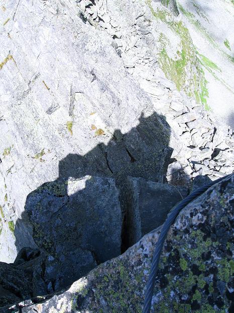 Foto: Andreas Koller / Klettersteig Tour / Bella Vista Klettersteig auf die Hohe Leier (2774 m) / Kurz nach der 2. Schlüsselstelle (D) / 06.09.2009 23:27:19