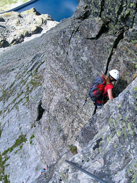 Foto: Andreas Koller / Klettersteig Tour / Bella Vista Klettersteig auf die Hohe Leier (2774 m) / Luftige Verschneidung (C/D) / 06.09.2009 23:21:01