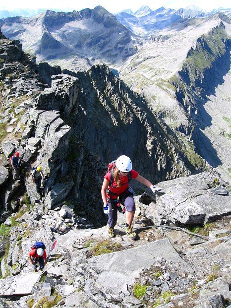 Foto: Andreas Koller / Klettersteig Tour / Bella Vista Klettersteig auf die Hohe Leier (2774 m) / Die letzten steilen Meter / 06.09.2009 23:18:51