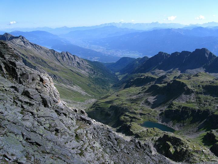 Foto: Andreas Koller / Klettersteig Tour / Bella Vista Klettersteig auf die Hohe Leier (2774 m) / Blick auf den Millstättersee / 06.09.2009 23:13:42