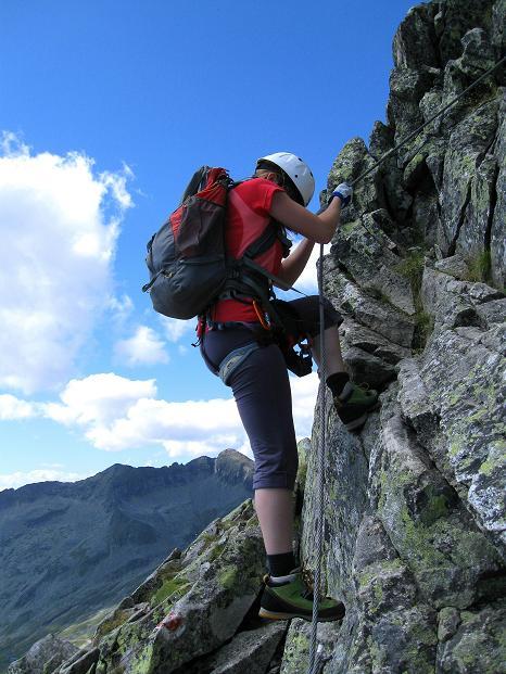 Foto: Andreas Koller / Klettersteig Tour / Bella Vista Klettersteig auf die Hohe Leier (2774 m) / B-Stellen im Abstieg / 06.09.2009 23:12:52