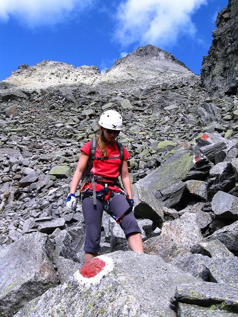 Foto: Andreas Koller / Klettersteig Tour / Bella Vista Klettersteig auf die Hohe Leier (2774 m) / Abstieg durch ein blockreiches Kar / 06.09.2009 23:12:01