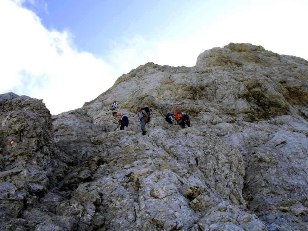 Foto: Datzi / Wander Tour / 4-Tages Biwakrundtour in den Julischen Alpen mit 3.Gipfelanstiegen (Triglav-Razor-Skrlatica) mit Klettersteig C-D / Klettersteig Triglav / 04.09.2009 18:25:17