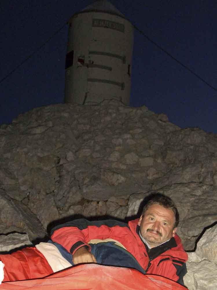 Foto: Datzi / Wander Tour / 4-Tages Biwakrundtour in den Julischen Alpen mit 3.Gipfelanstiegen (Triglav-Razor-Skrlatica) mit Klettersteig C-D / Mein Biwak am Triglav / 04.09.2009 18:23:49