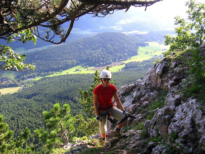 Foto: Andreas Koller / Klettersteig Tour / Klettersteig Steirerspur (1132m) / Der Ausstieg / 08.09.2009 00:56:10