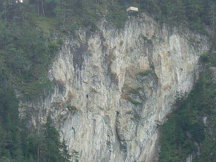 Foto: Thomas Neuner / Klettersteig Tour / Angy Eiter Route / Überblick über den Steinwand Klettersteig / 09.09.2009 09:09:30