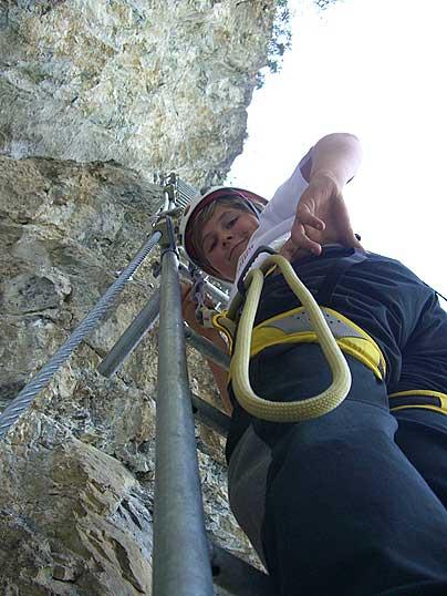 Foto: Thomas Neuner / Klettersteig Tour / Angy Eiter Route / Der 'leichte' Klettersteig - auch was für Kinder / 09.09.2009 09:01:06