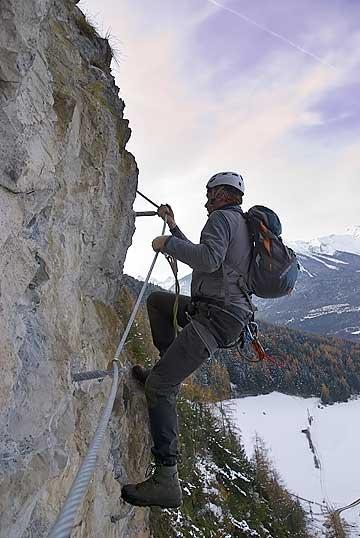 Foto: Thomas Neuner / Klettersteig Tour / Angy Eiter Route / Markante Stelle bei der Angy Eiter Route / 09.09.2009 08:31:30