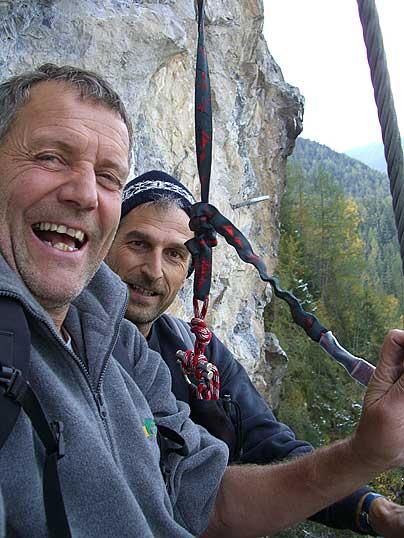 Foto: Thomas Neuner / Klettersteig Tour / Angy Eiter Route / Peter und sein Kumpel / 09.09.2009 08:29:30