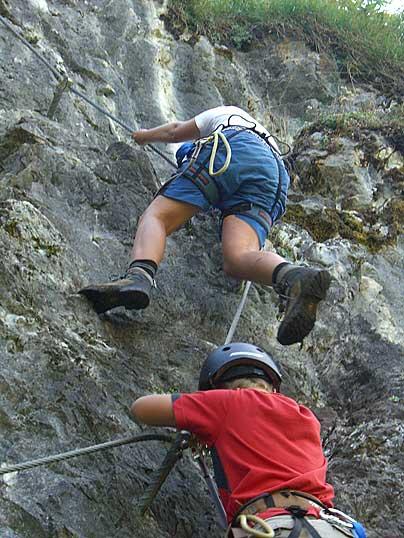 Foto: Thomas Neuner / Klettersteig Tour / Angy Eiter Route / weitere Bilder vom leichten Klettersteig / 09.09.2009 08:41:30