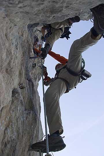 Foto: Thomas Neuner / Klettersteig Tour / Angy Eiter Route / Bei der 'Angy Eiter Route' gehts schon mehr zur Sache. / 09.09.2009 08:39:30