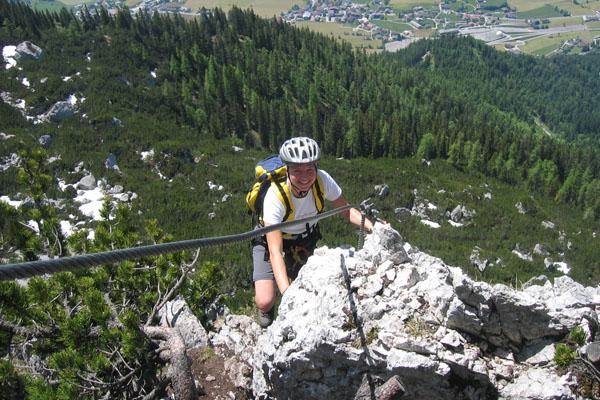 Foto: Christian Schickmayr / Klettersteig Tour / Schustergangl-Klettersteig, Rundtour / Luftiges Eck / 07.09.2009 20:51:29
