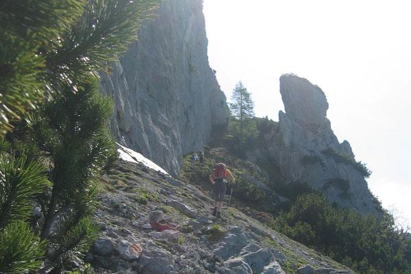 Foto: Christian Schickmayr / Klettersteig Tour / Schustergangl-Klettersteig, Rundtour / Einstiegspfeiler / 07.09.2009 20:58:00