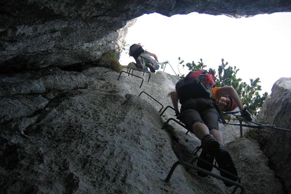 Foto: Christian Schickmayr / Klettersteig Tour / Schustergangl-Klettersteig, Rundtour / Im Kamin / 07.09.2009 20:50:28