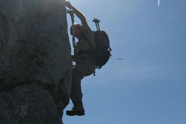 Foto: Christian Schickmayr / Klettersteig Tour / Schustergangl-Klettersteig, Rundtour / Am Knieschlotterer / 07.09.2009 20:52:50