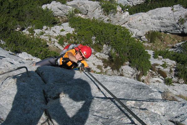 Foto: Christian Schickmayr / Klettersteig Tour / Schustergangl-Klettersteig, Rundtour / Steiler Aufschwung / 07.09.2009 20:50:03