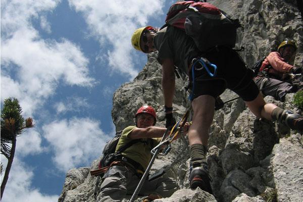 Foto: Christian Schickmayr / Klettersteig Tour / Schustergangl-Klettersteig, Rundtour / Im oberen Steilhang / 07.09.2009 20:49:25