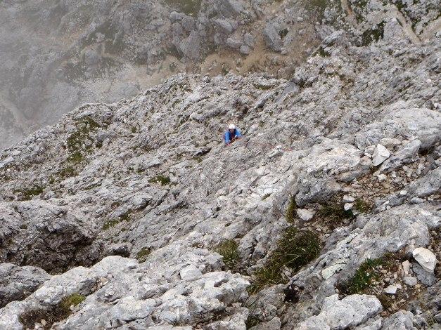 Foto: Manfred Karl / Kletter Tour / Großer Falzaregoturm, Westwand / Im oberen Teil der Route / 10.09.2009 21:08:41