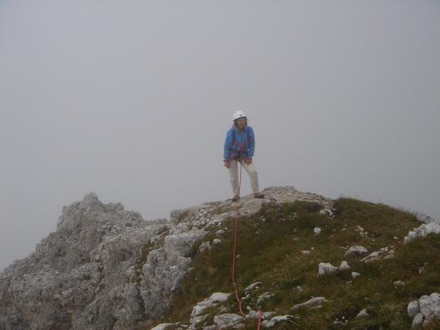 Foto: Manfred Karl / Kletter Tour / Großer Falzaregoturm, Westwand / Ausstieg auf der Gipfelwiese / 10.09.2009 21:08:10