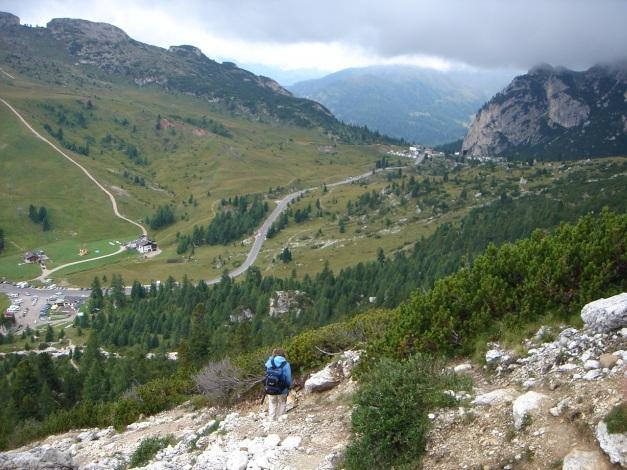 Foto: Manfred Karl / Kletter Tour / Großer Falzaregoturm, Westwand / Abstieg von den Falzaregotürmen / 10.09.2009 21:07:13
