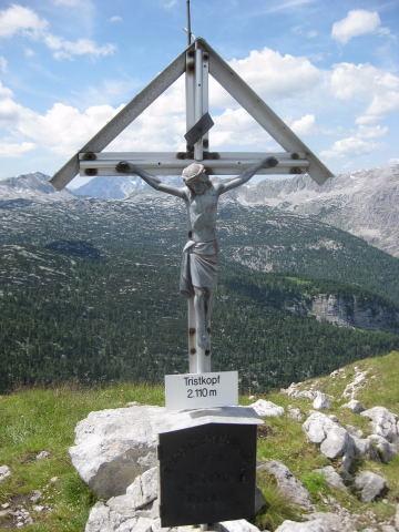 Foto: Wolfgang Lauschensky / Wander Tour / Tristkopf vom Bluntautal aus / Gipfelkreuz / 11.09.2009 17:42:23
