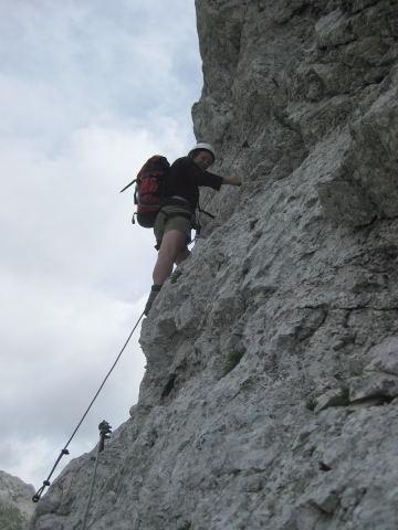 Foto: Wolfgang Lauschensky / Klettersteig Tour / Triglav Überschreitung Bambergweg - Ostgrat / gesicherte Partien bis C / 11.09.2009 20:42:44
