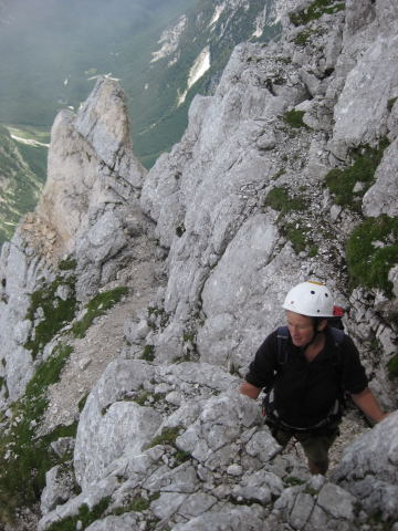 Foto: Wolfgang Lauschensky / Klettersteig Tour / Triglav Überschreitung Bambergweg - Ostgrat / Westgrat / 11.09.2009 20:43:59