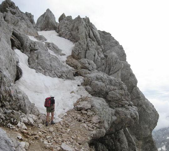 Foto: Wolfgang Lauschensky / Klettersteig Tour / Triglav Überschreitung Bambergweg - Ostgrat / kombiniertes Gelände zum Teil ungesichert / 11.09.2009 20:46:02
