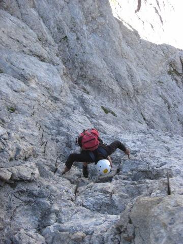 Foto: Wolfgang Lauschensky / Klettersteig Tour / Triglav Überschreitung Bambergweg - Ostgrat / Zapfenabstieg in der Schlußwand / 11.09.2009 20:48:32