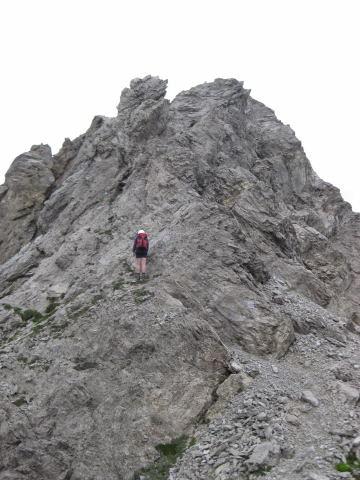 Foto: Wolfgang Lauschensky / Klettersteig Tour / Weittalspitze über Allmaier-Toni-Weg / Kurz nach dem Zochenpaß beginnt der Ostkamm der Weittalspitze=Toni-Allmaier-Weg / 12.09.2009 16:05:44