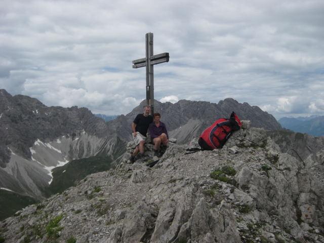Foto: Wolfgang Lauschensky / Klettersteig Tour / Weittalspitze über Allmaier-Toni-Weg / Blick zum Spitzkofel / 12.09.2009 16:07:40