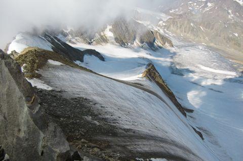 Foto: Thomas Paschinger / Wander Tour / Hintere Schwärze, Marzellspitzen, Similaun und Finailspitze / der Aufstiegsweg / 13.09.2009 15:13:14