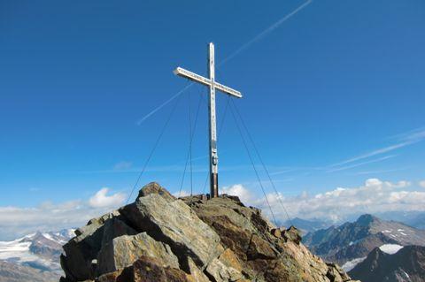 Foto: Thomas Paschinger / Wander Tour / Hintere Schwärze, Marzellspitzen, Similaun und Finailspitze / am Gipfel der Finailspitze (3514m) / 13.09.2009 15:22:51