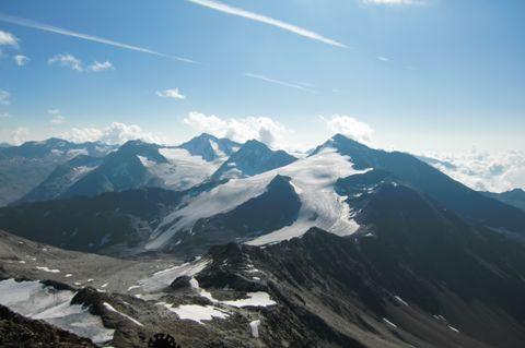 Foto: Thomas Paschinger / Wander Tour / Hintere Schwärze, Marzellspitzen, Similaun und Finailspitze / 13.09.2009 15:23:15