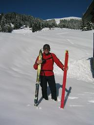 Foto: Snowfire / Ski Tour / Schönwipfel (1913m) / Bei den Almhütten mit Blick auf den Gipfel / 16.09.2009 12:28:06