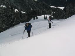 Foto: Snowfire / Ski Tour / Schönwipfel (1913m) / Auf den freien Flächen ober den Almen / 16.09.2009 12:32:30