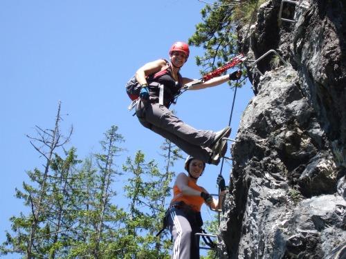 Foto: hofchri / Klettersteig Tour / Grünstein Klettersteig / eine schwierigere Steilstufe (C) / 15.06.2010 20:37:25