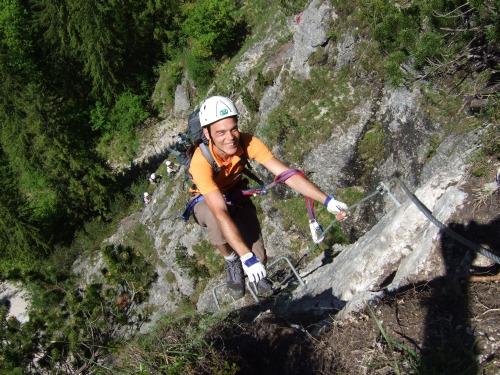 Foto: hofchri / Klettersteig Tour / Grünstein Klettersteig / Ausstieg aus der Klammernwand / 15.06.2010 20:32:57