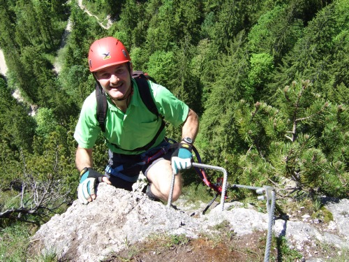Foto: hofchri / Klettersteig Tour / Grünstein Klettersteig / die gefinkelte Stelle von oben gesehen / 15.06.2010 20:34:34