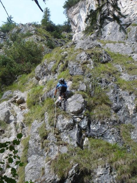 Foto: Manfred Karl / Klettersteig Tour / Grünstein Klettersteig / Beginn des Isidorsteiges / 17.09.2009 20:11:58