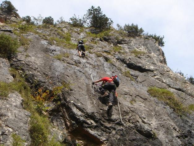 Foto: Manfred Karl / Klettersteig Tour / Grünstein Klettersteig / Einstiegswand / 17.09.2009 20:11:31