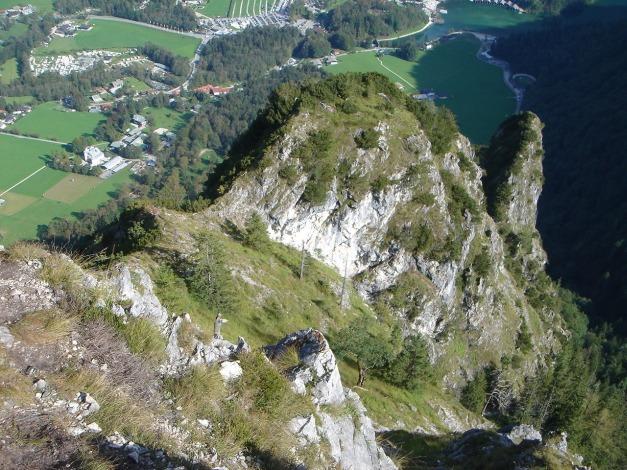 Foto: Manfred Karl / Klettersteig Tour / Grünstein Klettersteig / Der Südostgrat von oben gesehen / 17.09.2009 20:04:50