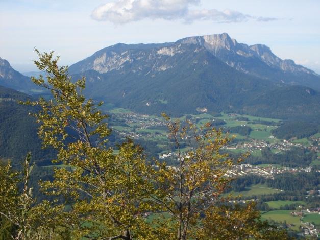 Foto: Manfred Karl / Klettersteig Tour / Grünstein Klettersteig / Blick zum Untersberg / 17.09.2009 20:04:07
