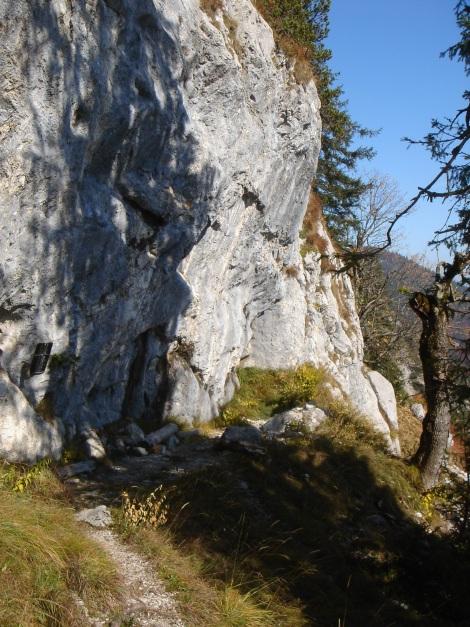 Foto: Manfred Karl / Wander Tour / Goldtropf Steig am Hochstaufen / Der Rastplatz beim Steigbuch / 17.09.2009 21:14:21